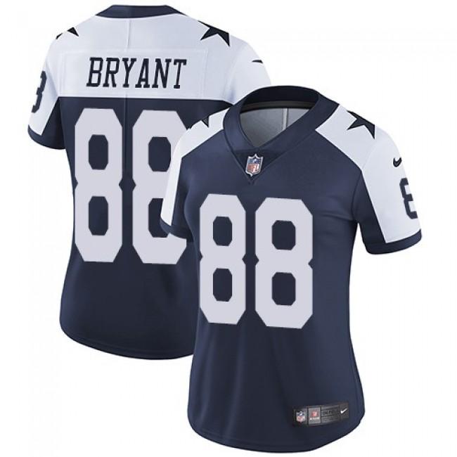 Women's Cowboys #88 Dez Bryant Navy Blue Thanksgiving Stitched NFL Vapor Untouchable Limited Throwback Jersey