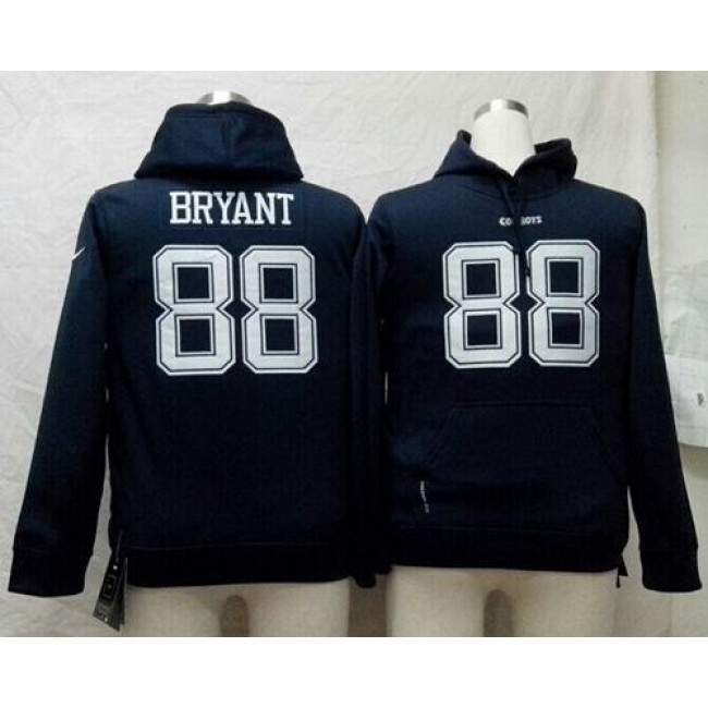 Dallas Cowboys #88 Dez Bryant Navy Blue Youth Pullover NFL Hoodie Jersey