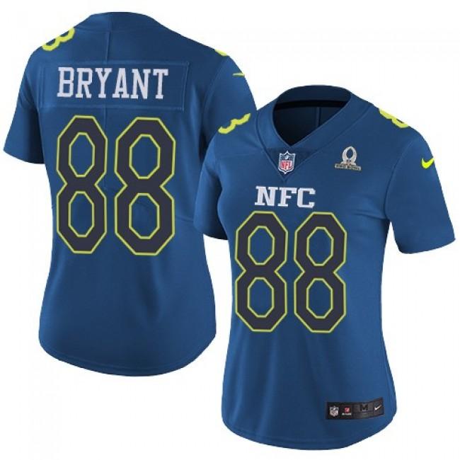 Women's Cowboys #88 Dez Bryant Navy Stitched NFL Limited NFC 2017 Pro Bowl Jersey