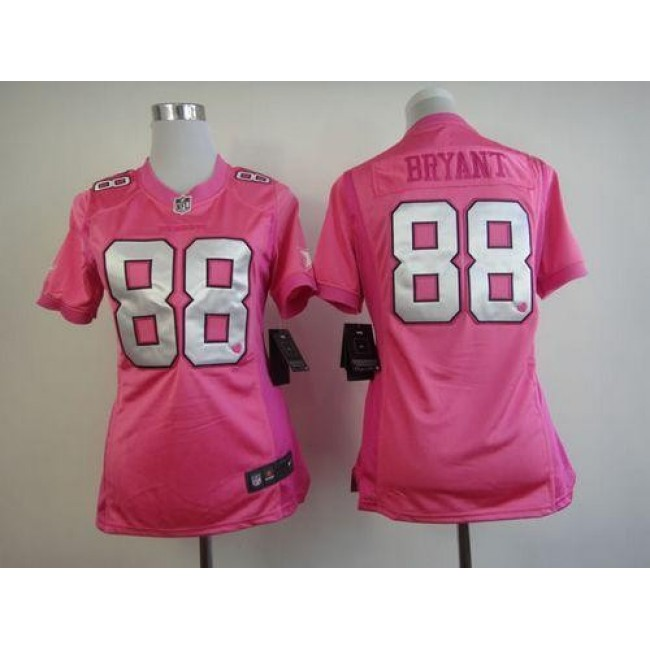 Women's Cowboys #88 Dez Bryant Pink Be Luv'd Stitched NFL New Elite Jersey