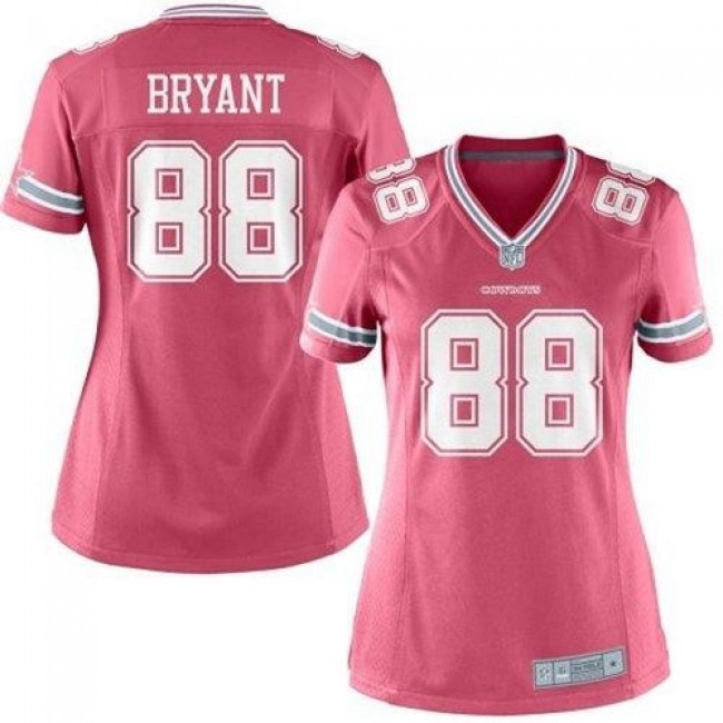 Women's Cowboys #88 Dez Bryant Pink Stitched NFL Elite Jersey