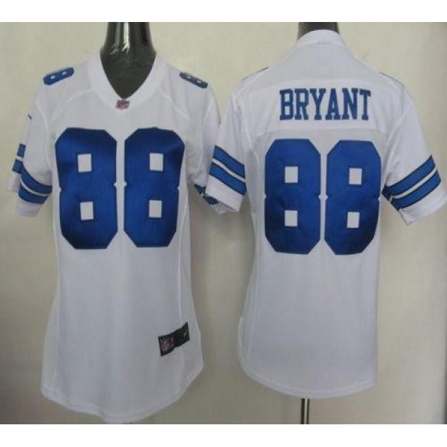Women's Cowboys #88 Dez Bryant White Stitched NFL Elite Jersey