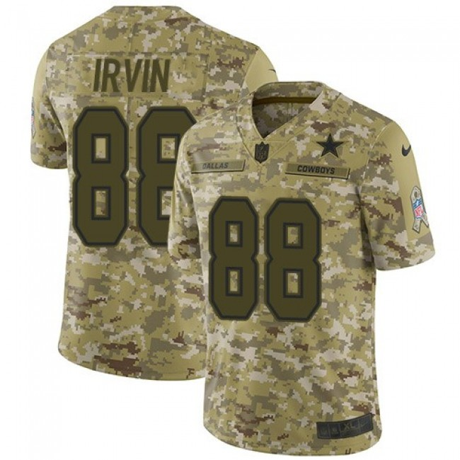 Nike Cowboys #88 Michael Irvin Camo Men's Stitched NFL Limited 2018 Salute To Service Jersey