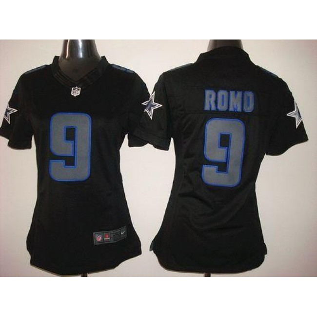 Women's Cowboys #9 Tony Romo Black Impact Stitched NFL Limited Jersey