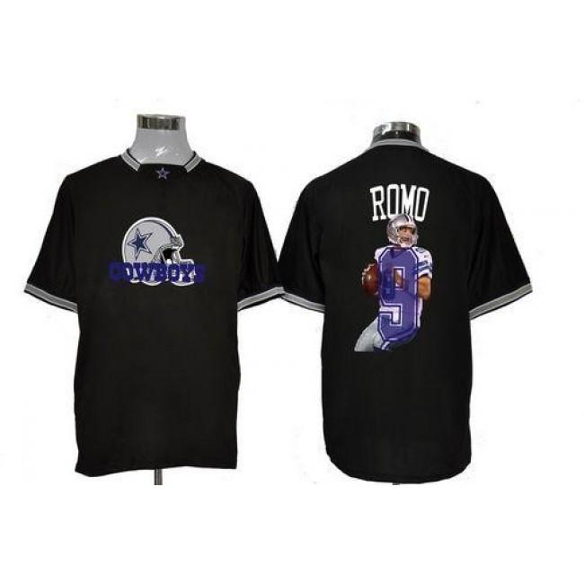 Nike Cowboys #9 Tony Romo Black Men's NFL Game All Star Fashion Jersey