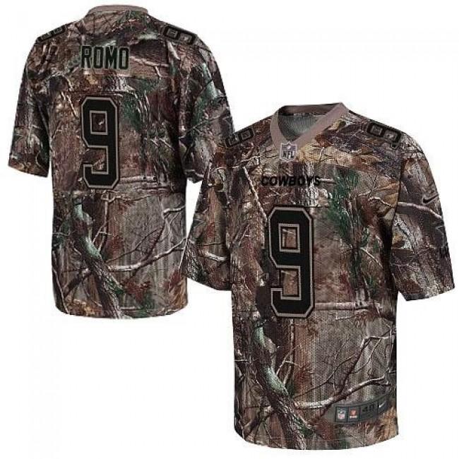 Nike Cowboys #9 Tony Romo Camo Men's Stitched NFL Realtree Elite Jersey