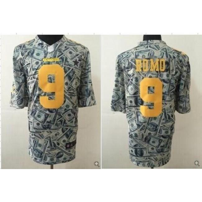 Nike Cowboys #9 Tony Romo Dollar Fashion Men's Stitched NFL Elite Jersey