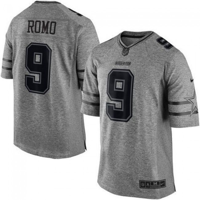 Nike Cowboys #9 Tony Romo Gray Men's Stitched NFL Limited Gridiron Gray Jersey