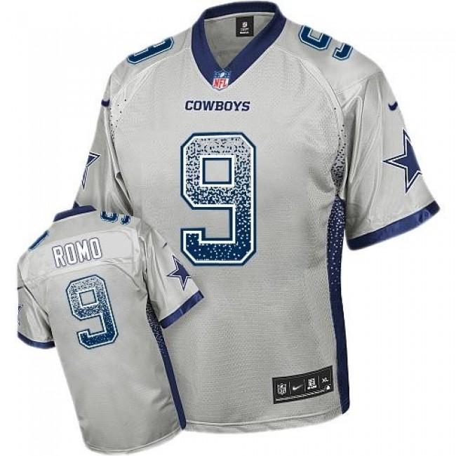 Dallas Cowboys #9 Tony Romo Grey Youth Stitched NFL Elite Drift Fashion Jersey