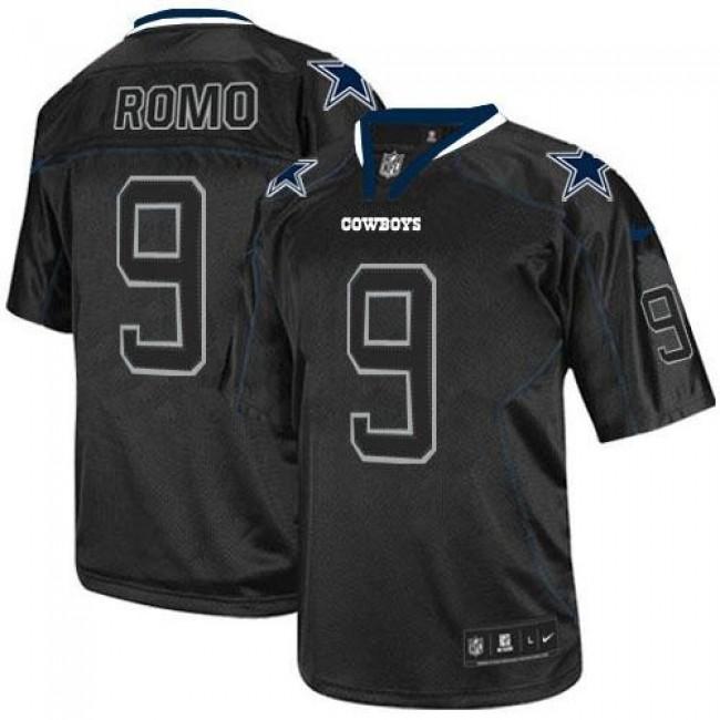Nike Cowboys #9 Tony Romo Lights Out Black Men's Stitched NFL Elite Jersey