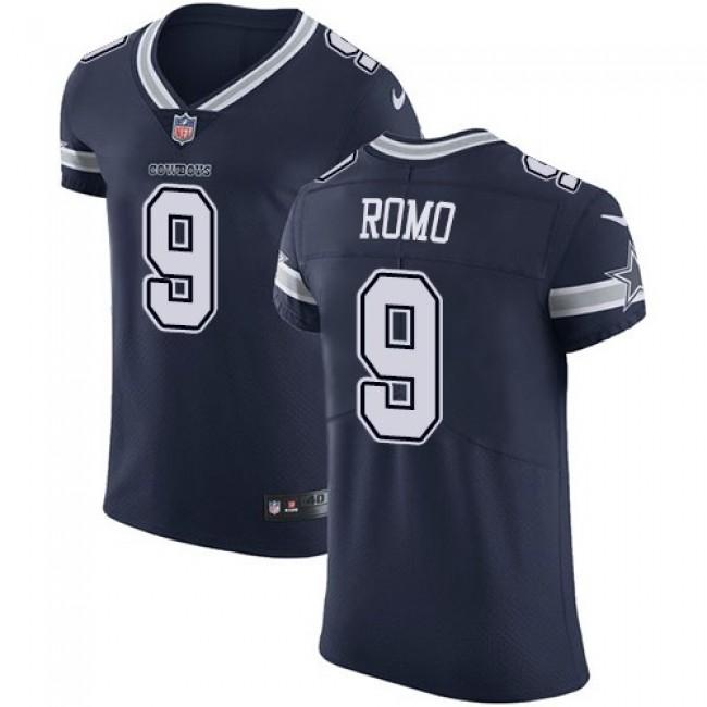 Nike Cowboys #9 Tony Romo Navy Blue Team Color Men's Stitched NFL Vapor Untouchable Elite Jersey