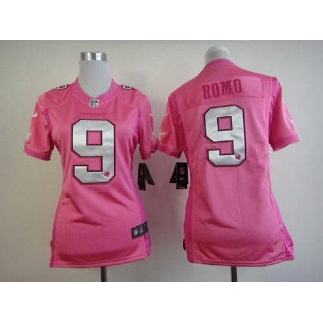 Women's Cowboys #9 Tony Romo Pink Be Luv'd Stitched NFL New Elite Jersey