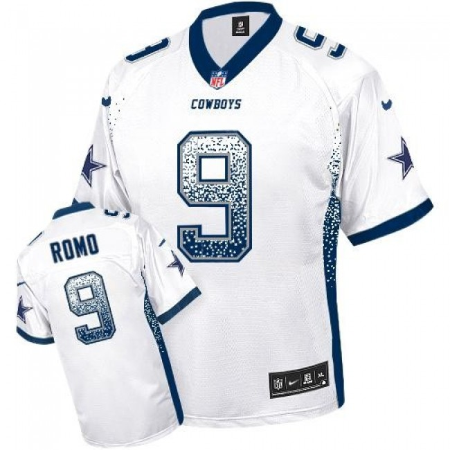 Nike Cowboys #9 Tony Romo White Men's Stitched NFL Elite Drift Fashion Jersey