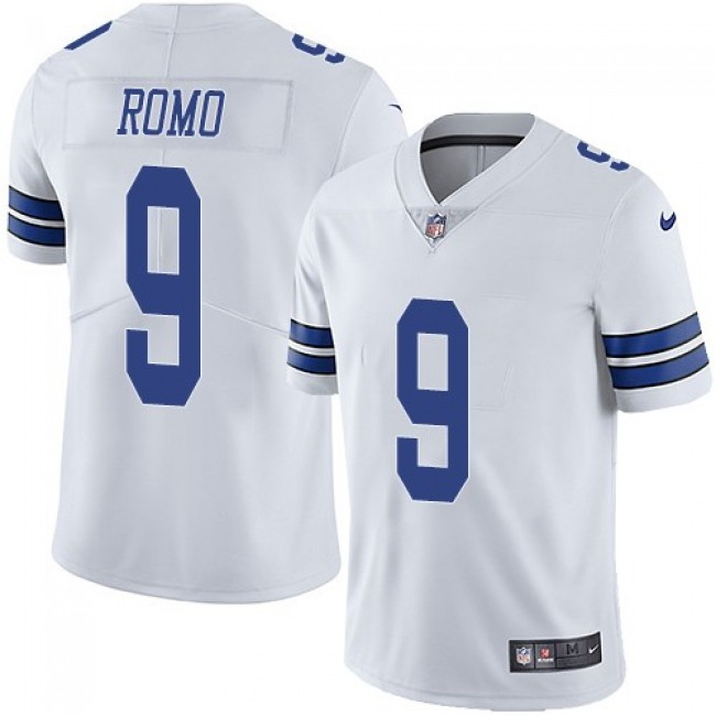 Nike Cowboys #9 Tony Romo White Men's Stitched NFL Vapor Untouchable Limited Jersey