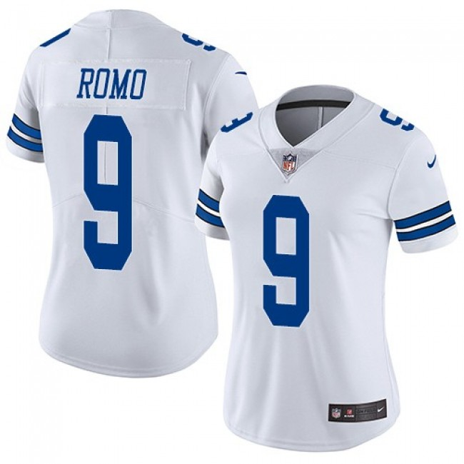 Women's Cowboys #9 Tony Romo White Stitched NFL Vapor Untouchable Limited Jersey