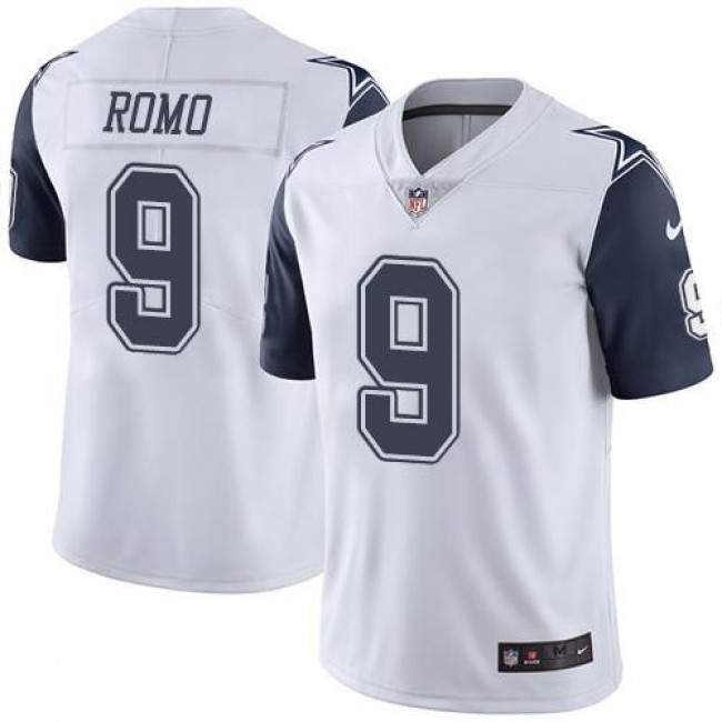 Dallas Cowboys #9 Tony Romo White Youth Stitched NFL Limited Rush Jersey