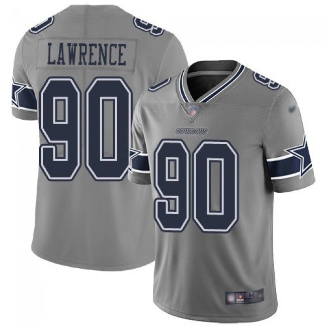 Nike Cowboys #90 Demarcus Lawrence Gray Men's Stitched NFL Limited Inverted Legend Jersey