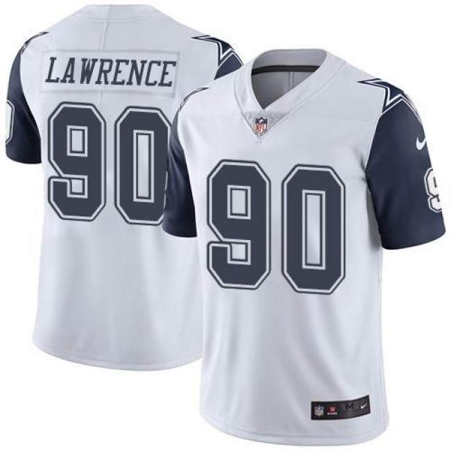 Nike Cowboys #90 Demarcus Lawrence White Men's Stitched NFL Limited Rush Jersey