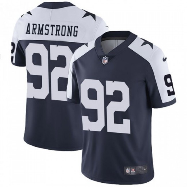 Nike Cowboys #92 Dorance Armstrong Navy Blue Thanksgiving Men's Stitched NFL Vapor Untouchable Limited Throwback Jersey