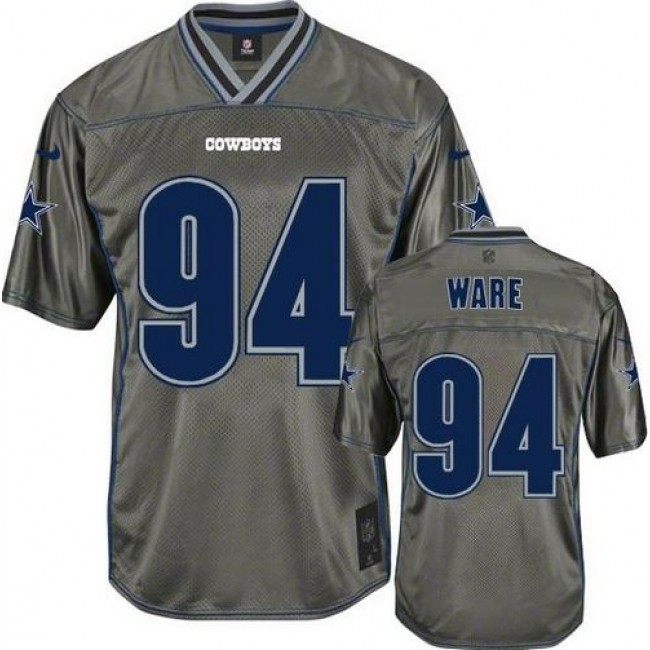 Dallas Cowboys #94 DeMarcus Ware Grey Youth Stitched NFL Elite Vapor Jersey