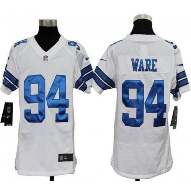 Dallas Cowboys #94 DeMarcus Ware White Youth Stitched NFL Elite Jersey