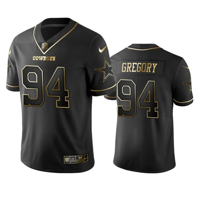 Nike Cowboys #94 Randy Gregory Black Golden Limited Edition Stitched NFL Jersey