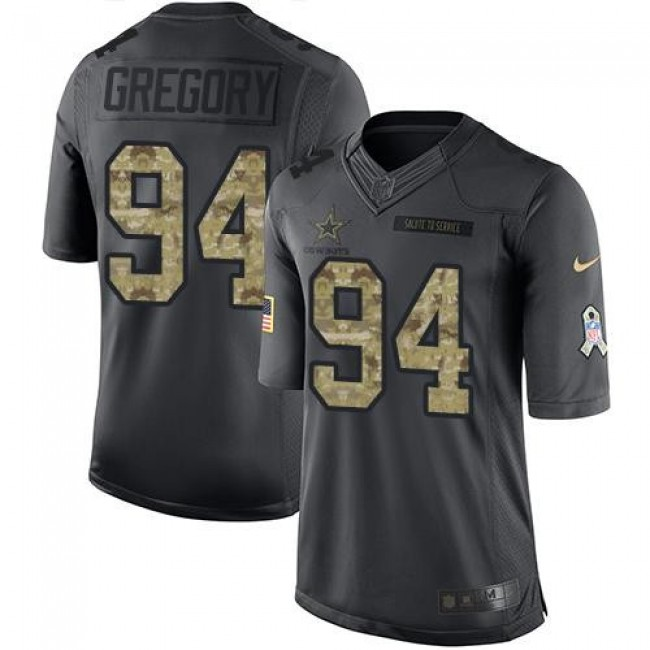 Nike Cowboys #94 Randy Gregory Black Men's Stitched NFL Limited 2016 Salute To Service Jersey