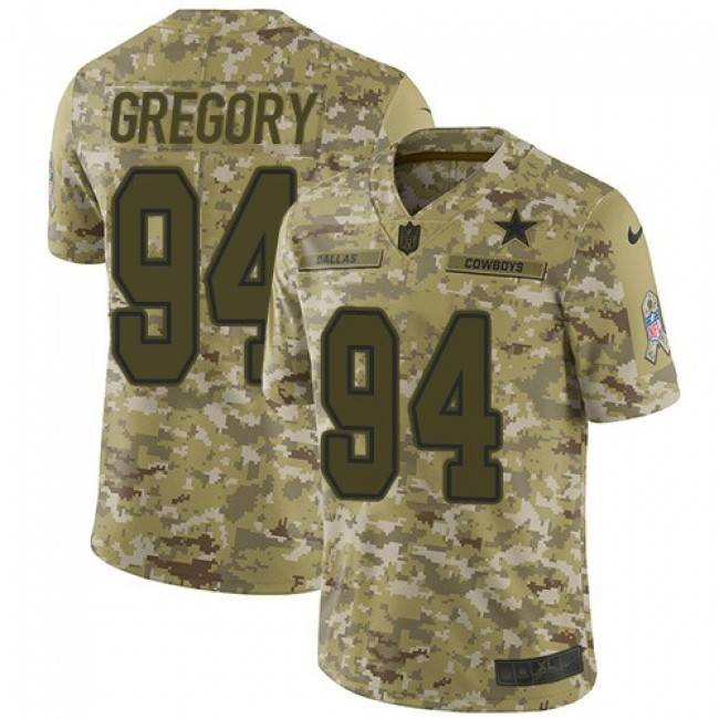 Nike Cowboys #94 Randy Gregory Camo Men's Stitched NFL Limited 2018 Salute To Service Jersey