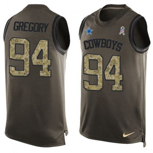 Nike Cowboys #94 Randy Gregory Green Men's Stitched NFL Limited Salute To Service Tank Top Jersey
