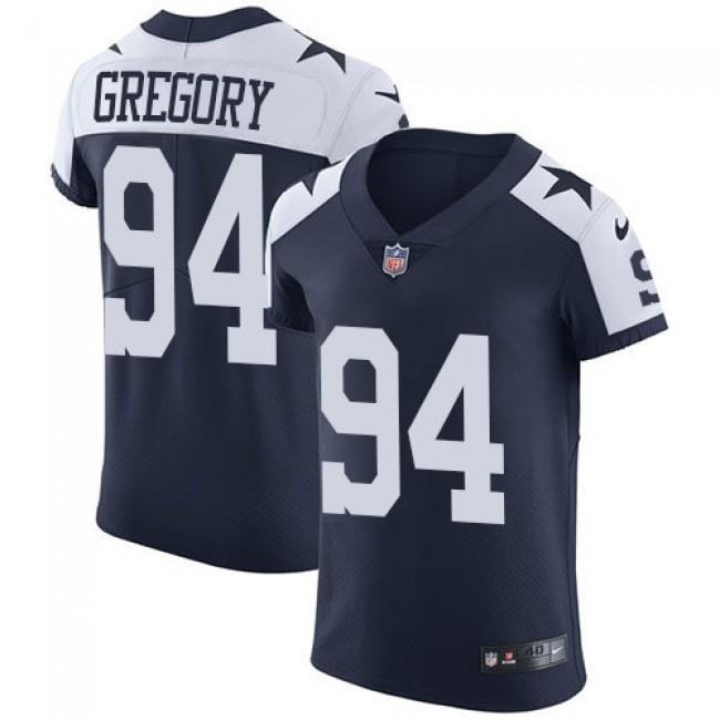 Nike Cowboys #94 Randy Gregory Navy Blue Thanksgiving Men's Stitched NFL Vapor Untouchable Throwback Elite Jersey