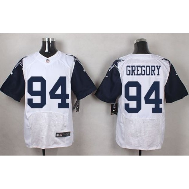 Nike Cowboys #94 Randy Gregory White Men's Stitched NFL Elite Rush Jersey