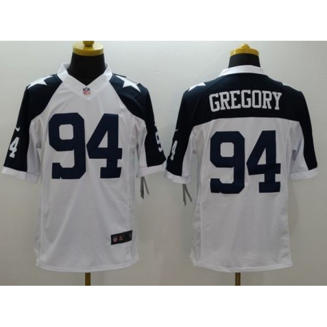 Nike Cowboys #94 Randy Gregory White Thanksgiving Throwback Men's Stitched NFL Limited Jersey