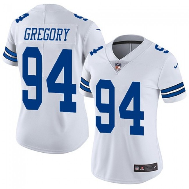 Women's Cowboys #94 Randy Gregory White Stitched NFL Vapor Untouchable Limited Jersey