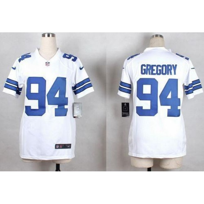 Dallas Cowboys #94 Randy Gregory White Youth Stitched NFL Elite Jersey