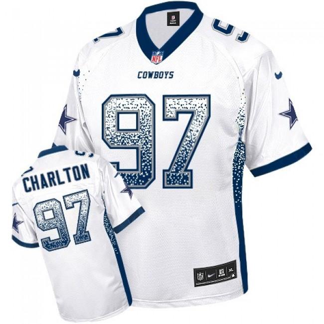 Nike Cowboys #97 Taco Charlton White Men's Stitched NFL Elite Drift Fashion Jersey