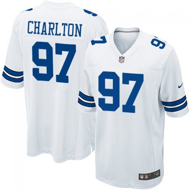 Dallas Cowboys #97 Taco Charlton White Youth Stitched NFL Elite Jersey