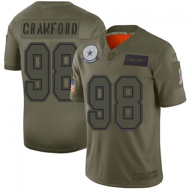 Nike Cowboys #98 Tyrone Crawford Camo Men's Stitched NFL Limited 2019 Salute To Service Jersey