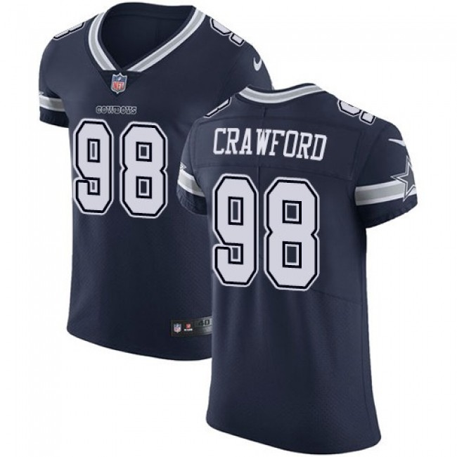 Nike Cowboys #98 Tyrone Crawford Navy Blue Team Color Men's Stitched NFL Vapor Untouchable Elite Jersey