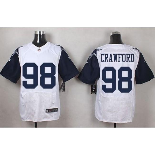 Nike Cowboys #98 Tyrone Crawford White Men's Stitched NFL Elite Rush Jersey