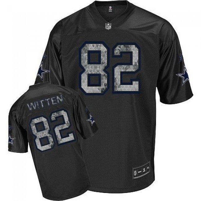 Sideline Black United Cowboys #82 Jason Witten Black Stitched NFL Jersey