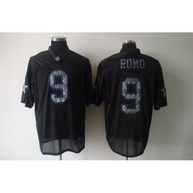 Sideline Black United Cowboys #9 Tony Romo Black Stitched NFL Jersey