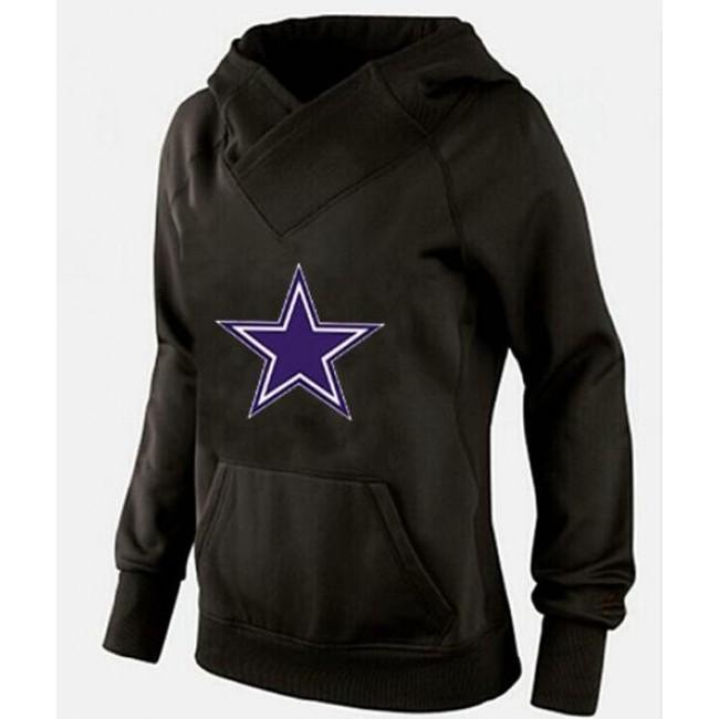 Women's Dallas Cowboys International Version Pullover Hoodie Black Jersey
