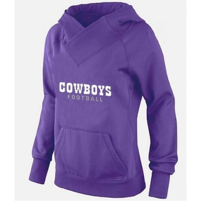 Women's Dallas Cowboys Logo Pullover Hoodie Purple Jersey