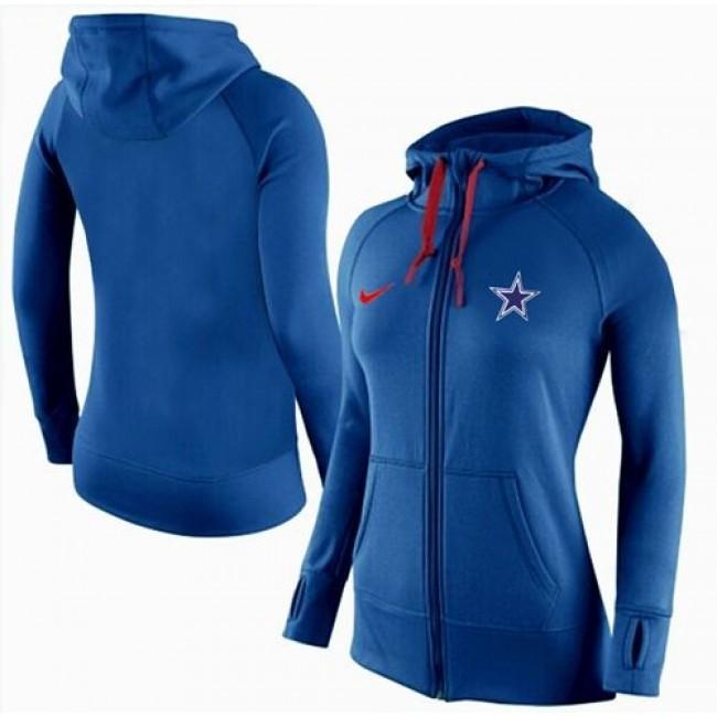 Women's Dallas Cowboys Full-Zip Hoodie Blue Jersey