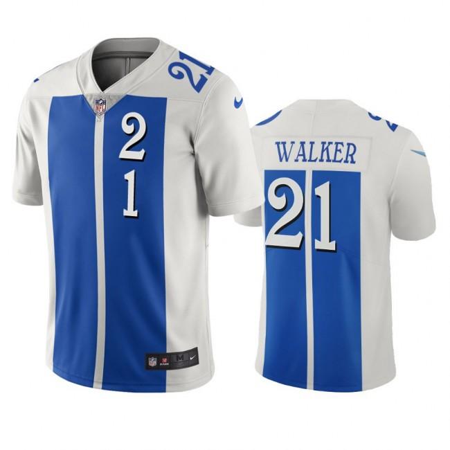 Detroit Lions #21 Tracy Walker White Blue Vapor Limited City Edition NFL Jersey