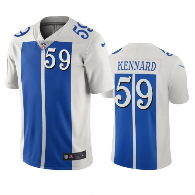 Detroit Lions #59 Devon Kennard White Blue Vapor Limited City Edition NFL Jersey