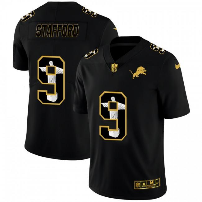 Detroit Lions #9 Matthew Stafford Men's Nike Carbon Black Vapor Cristo Redentor Limited NFL Jersey