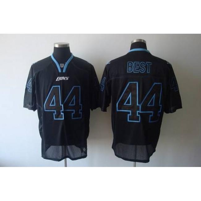 Lions #44 Jahvid Best Lights Out Black Stitched NFL Jersey