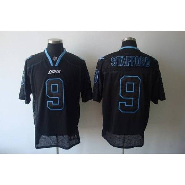 Lions #9 Matthew Stafford Lights Out Black Stitched NFL Jersey