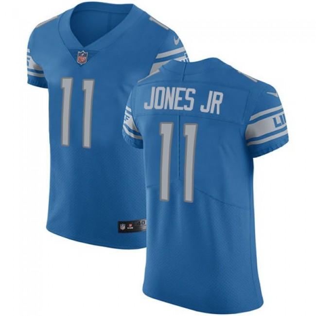 Nike Lions #11 Marvin Jones Jr Blue Team Color Men's Stitched NFL Vapor Untouchable Elite Jersey